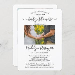 2 Photo Drive-By Social Distancing Baby Shower Invitation