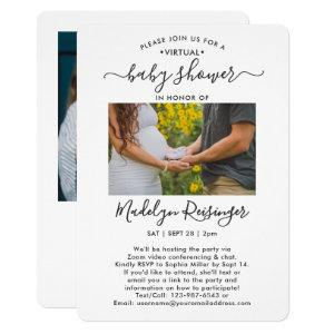 2 Photo Virtual Long Distance Baby Shower by Mail Invitation