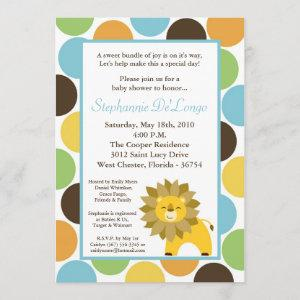 5x7 Jungle King Lion Safari Baby Shower Invitation
