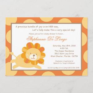 5x7 King of the Jungle Lion Baby Shower