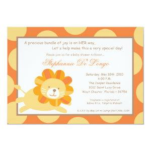 5x7 King of the Jungle Lion Baby Shower Invitation