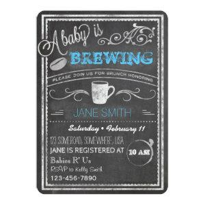 A Baby is Brewing (Boy)! Invitation
