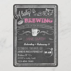 A Baby is Brewing (Girl)! Invitation