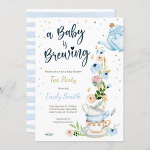 A Baby is Brewing  Tea Party Baby Shower