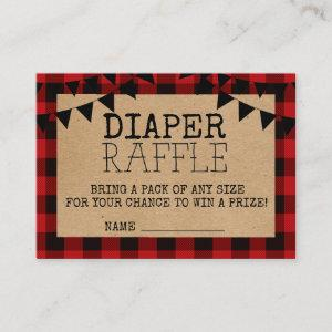 A Little Bear Is On The Way Diaper Raffle Enclosure Card