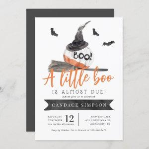 A Little Boo is Almost Due Halloween Baby Shower Invitation