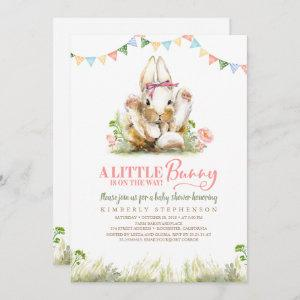 A Little Bunny is On the Way Invite