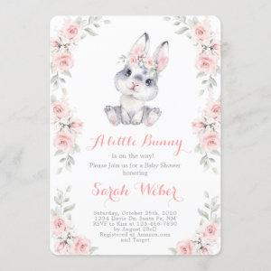 A little bunny pink baby shower girl
