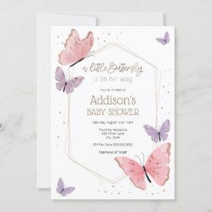 A little Butterfly is on her way Baby Shower