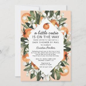 A Little Cutie is on the Way Baby Shower By Mail Invitation