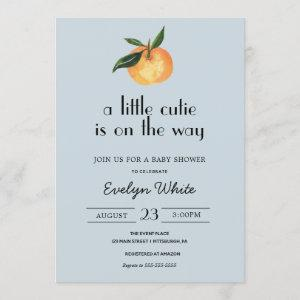 A little cutie is on the way Baby Shower Invitation