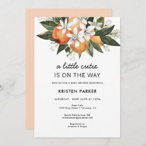 A Little Cutie is on the Way Modern Baby Shower Invitation