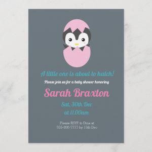 A little one is about to hatch baby shower invitation