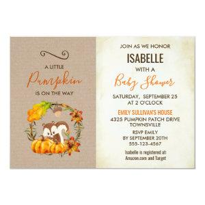 A Little Pumpkin is on the Way Baby Shower Invite