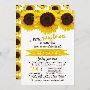 A Little Sunflower Is On The Way! Baby Shower