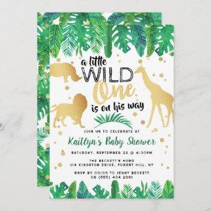 A Little Wild One Is On His Way Boys Baby Shower Invitation