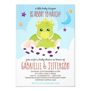 About To Hatch Dragon Baby Shower Invitation