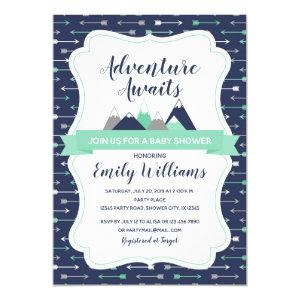 Adventure awaits baby shower invitation