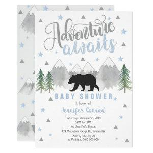 Adventure Awaits Baby Shower Invitation - Baby Boy
