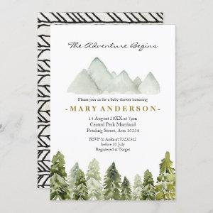 Adventure Rustic Boho Forest baby shower