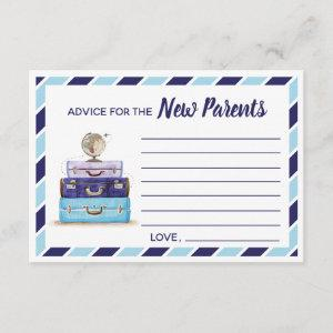 Advice for the New Parents Travel baby shower game Enclosure Card