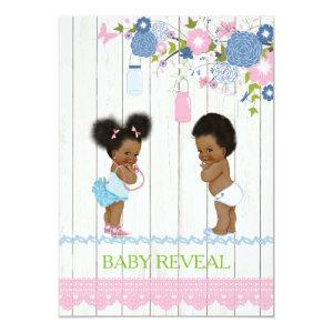 African American Baby Reveal Baby Shower Invitatio Invitation