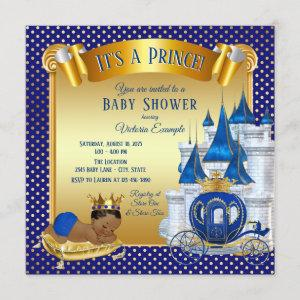 African American Prince Baby Shower Invitations