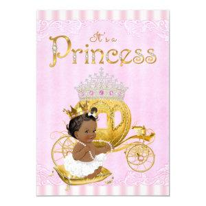 African American Princess Baby Shower Invitation