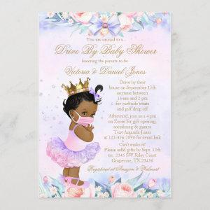 African American Princess Drive By Baby Shower Invitation