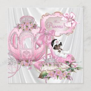 African American Royal Princess Baby Shower Invitation