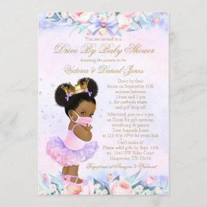 Afro Princess Drive By Baby Shower Invitation