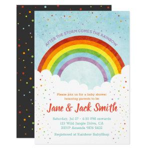 After the Rain Comes the Rainbow | Baby Shower Invitation