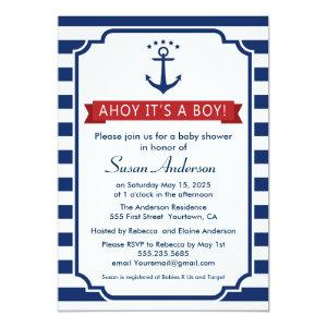Ahoy! It's a Boy! Baby Shower Invitation