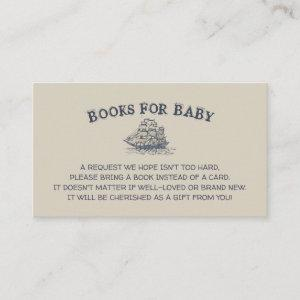 Ahoy! Its a boy, books for baby vintage nautical Enclosure Card