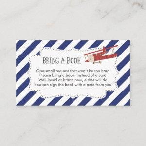 Airplane Baby Shower Book Request Card