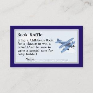 Airplane Book Raffle Tickets, Baby Shower Game Enclosure Card