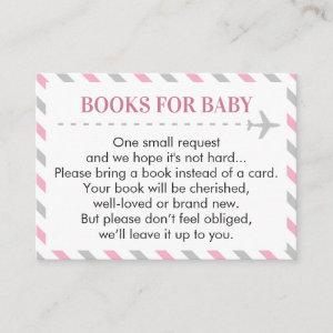 Airplane Travel Books for Baby Book Request Card