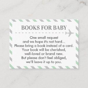 Airplane Travel Books for Baby Shower Request Enclosure Card