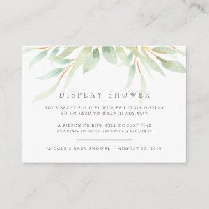 Airy Botanical Display Shower Card