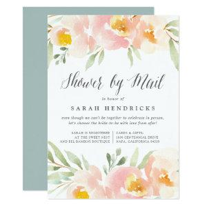 Airy Floral Virtual Baby or Bridal Shower By Mail Invitation