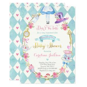 Alice In Wonderland Baby Shower Invitation