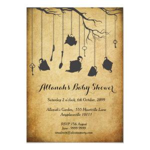 Alice in Wonderland Baby Shower Tea Party Invitation