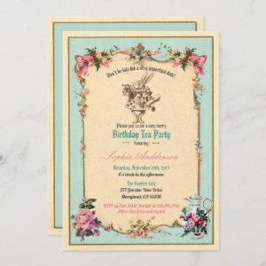 Alice in Wonderland birthday party  teal