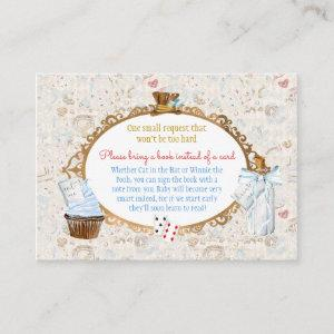 Alice in Wonderland Book Request Thank You Gift Enclosure Card