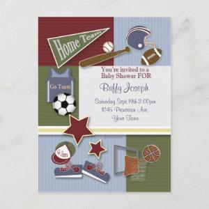 All Sports Baby Shower Template