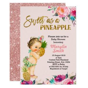 Aloha Pineapple Baby Shower Invitation