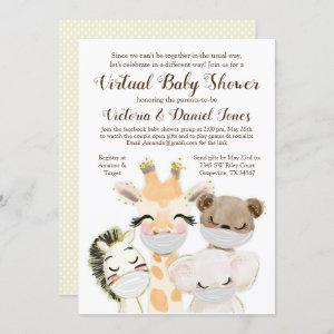 Animals with Masks Drive Through Covid Baby Shower