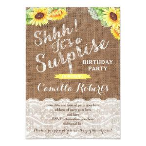 Any age surprise birthday party cards