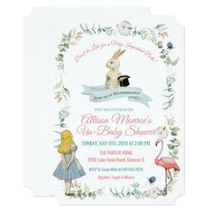 ANY COLOR - Alice in Wonderland Baby Shower Invitation