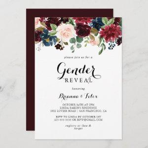 Autumn Modern Calligraphy Gender Reveal Party